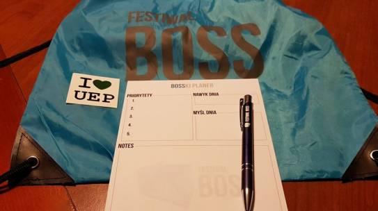 Gadżety reklamowe zrealizowane na konferencję Festiwal BOSS